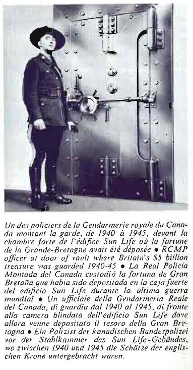 Policier de la GRC à la Sun Life, vers 1940-1945