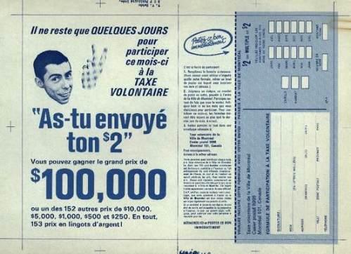 La taxe volontaire, 1968