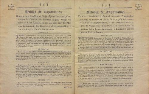 Articles de la Capitulation de Montréal, 8 septembre 1760. V.258.1.5/1