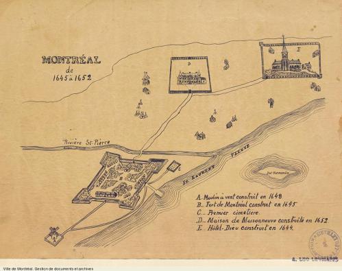 Montréal de 1645 à 1652, [19-], BM5,C26-042