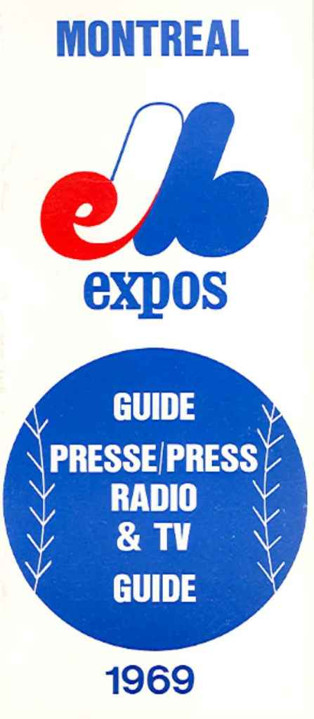 Guide de presse des Expos de Montréal, 1969