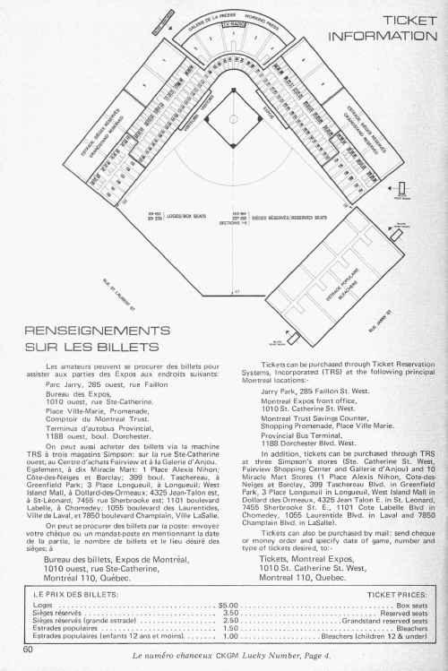 Renseignements sur les billets, 1969, p. 60
