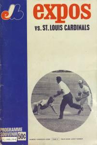 Programme souvenir du premier match des Expos de Montréal, 14 avril 1969