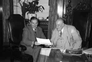 Maurice Duplessis et Camillien Houde, 1948, VM94-Z277-2