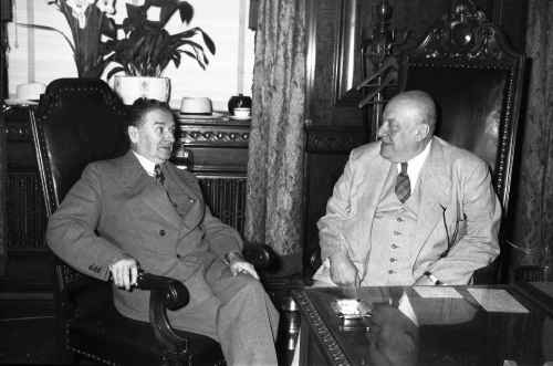 Maurice Duplessis et Camillien Houde, 1948, VM94-Z277-4