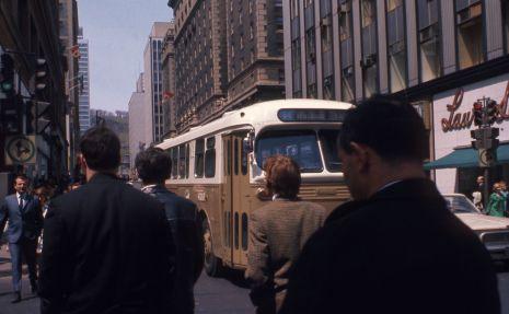 Vue de la rue Peel vers le nord, 1968. VM94-AD50-001